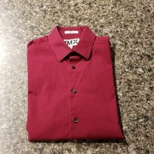 Express maroon dress shirt